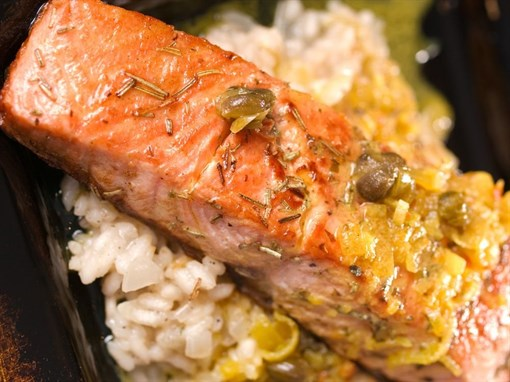 Baked Salmon with Tarragon and Capers