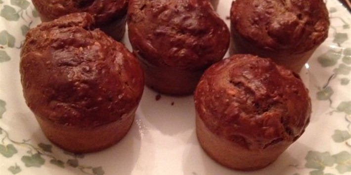 Chocolate Peanut Butter Oat Muffins