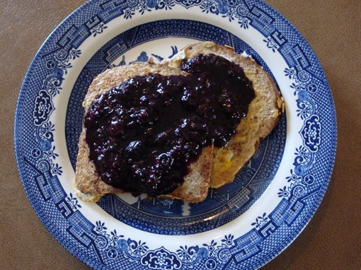 French Toast with Berry Syrup