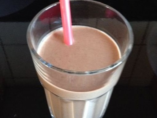 Chocolate Banana Almond Butter Smoothie