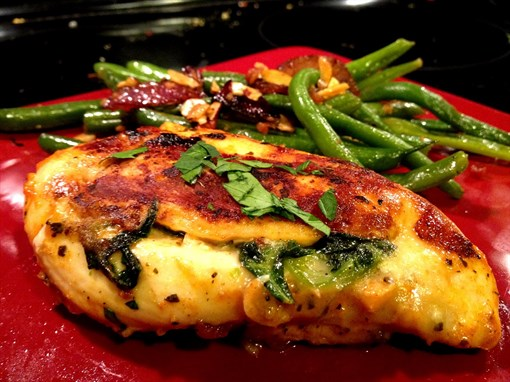 Spinach and Pepper Jack Stuffed Chicken