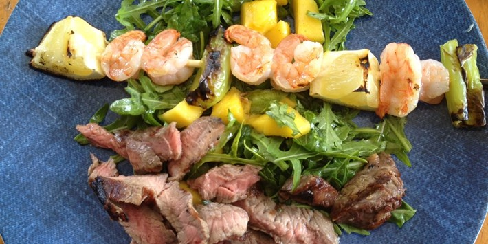 Surf and Turf Spring Salad