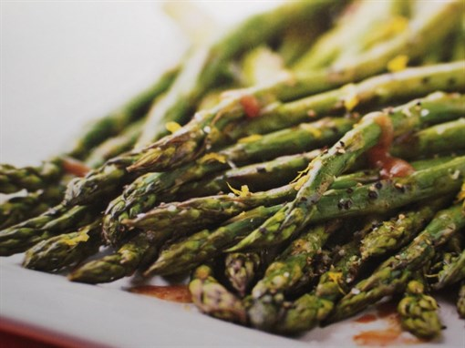 Tamari and Balsamic Roasted Asparagus