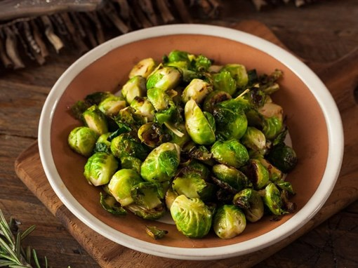 Simple Salted Roasted Brussels Sprouts