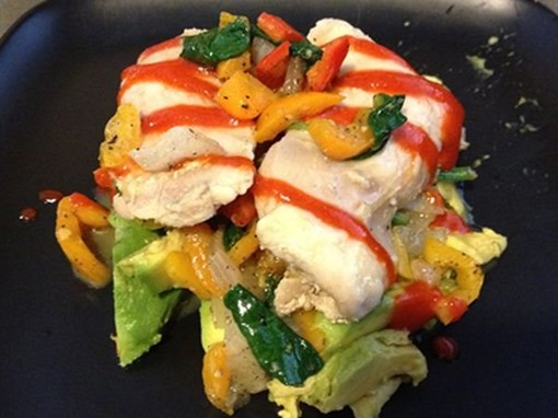 Chicken with Avocado and Veggies