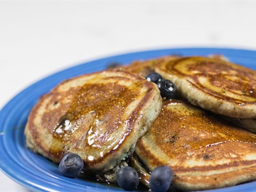 Coconut Flour Blueberry Pancakes