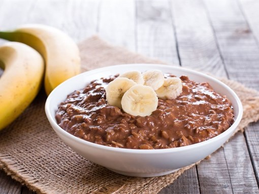 Chocolate Almond Butter Banana Oatmeal