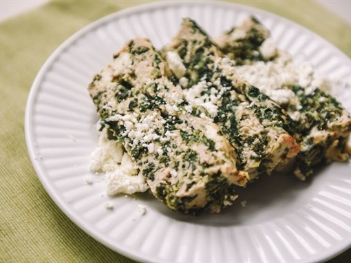Spinach and Feta Turkey Meatloaf