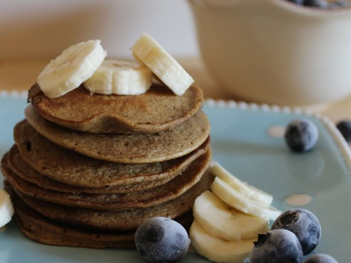 Banana Almond Butter Pancakes