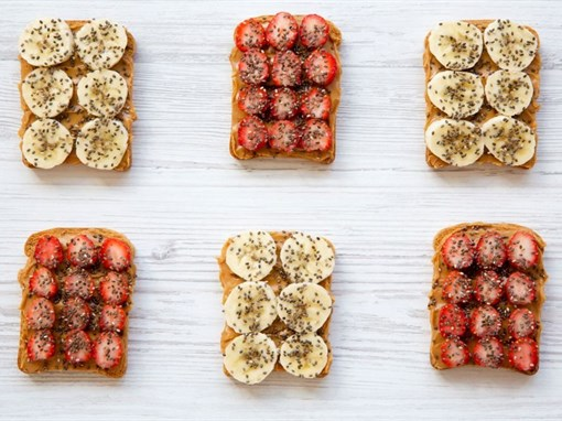 Nut Butter and Fruit Toast