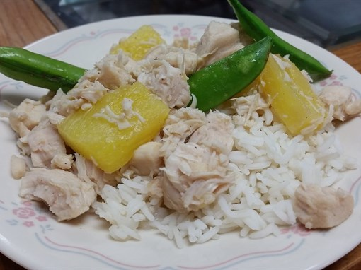 Honey Lime Chicken with Pineapple and Snap Peas