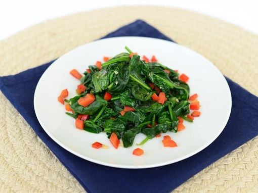 Sauteed Spinach and Red Peppers