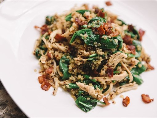 Chicken, Bacon, Spinach Quinoa