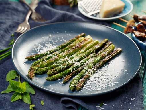 Lemon Garlic Parmesan Asparagus