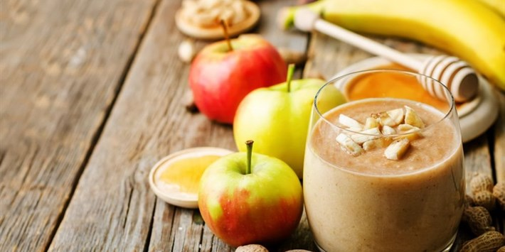 Chocolate Almond Butter Apple Protein Smoothie